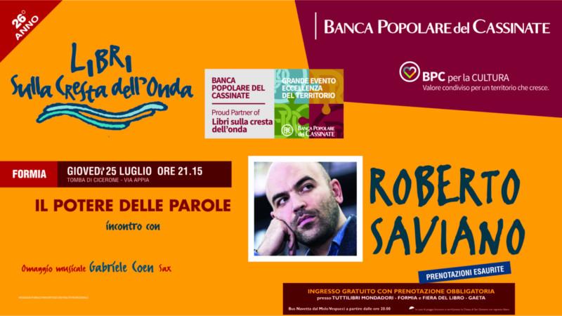 Libri sulla cresta dell'Onda: incontro con Roberto Saviano