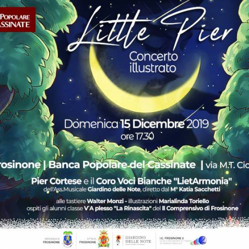 """Little Pier"": Pier Cortese e il suo concerto illustrato"