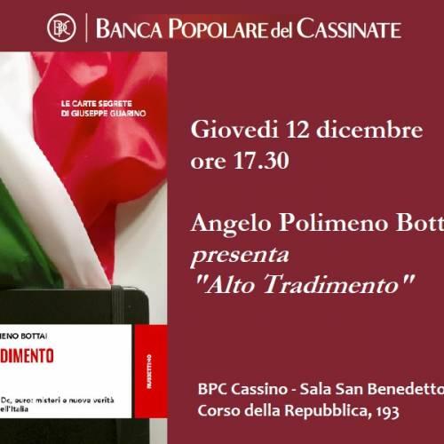 """""""Alto Tradimento"""": il nuovo libro di Angelo Polimeno Bottai"""