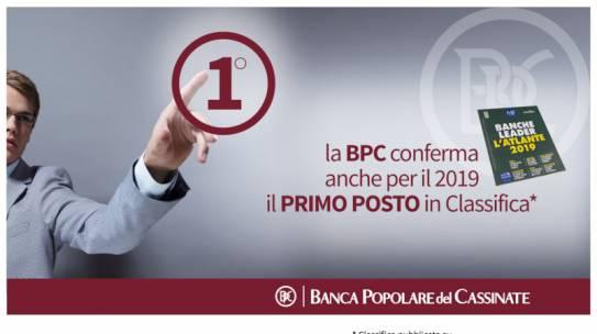 BPC Prima nella Regione Lazio secondo l'Atlante delle Banche Leader 2019