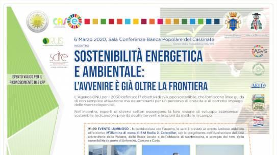 Sostenibilità energetica e ambientale: l'avvenire è già oltre la frontiera.