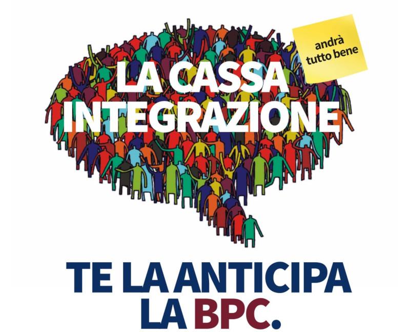 La BPC aderisce alla convenzione ABI per l'anticipo della Cassa integrazione Speciale Covid-19