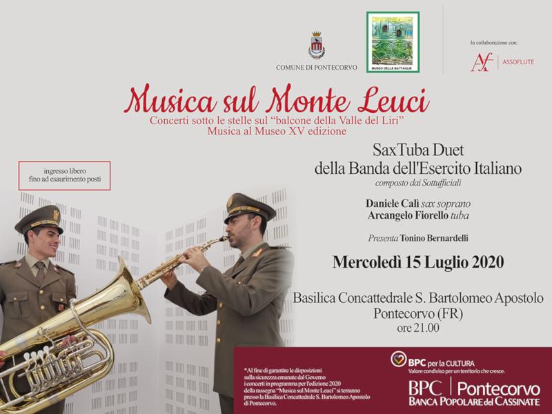 Musica sul Monte Leuci: il 15 luglio il Saxa Tuba Duet