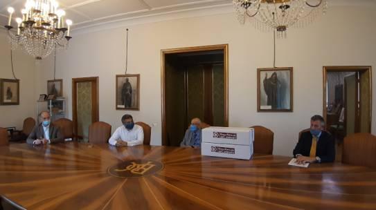 Donazione pacchi alimentari al Comune di Cassino