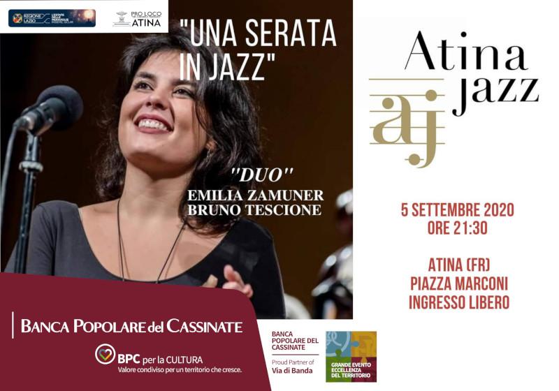 """Una serata in Jazz"" con ""Emilia Zamuner Duo"""