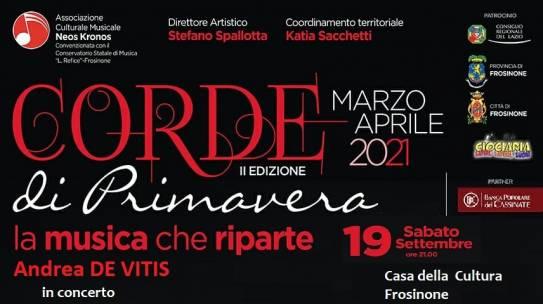 Corde di Primavera: a Frosinone il Maestro De Vitis