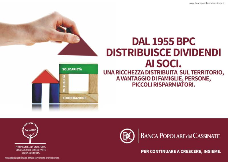 La BPC distribuisce dividendi ai Soci